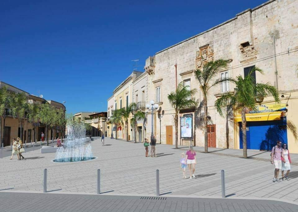 Maruggio schizzo piazza salento borgo