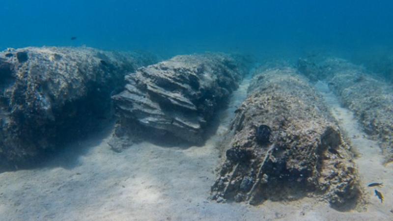 Colonne greco romane porto cesareo