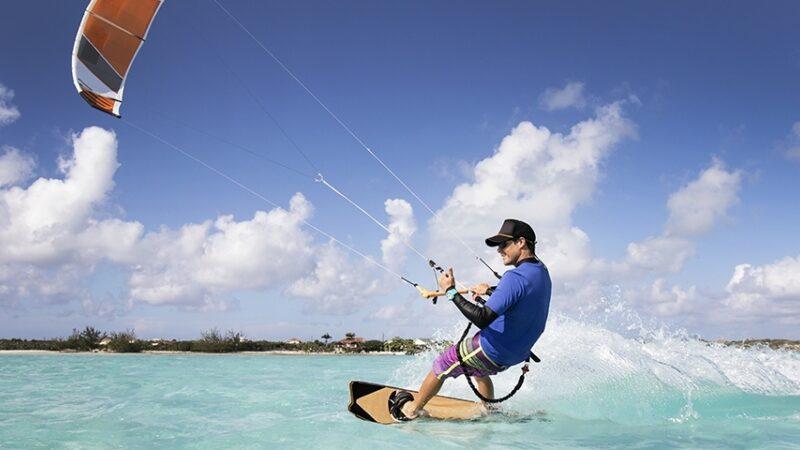 Kite surfing banner