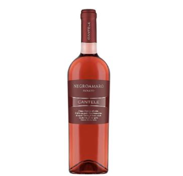 CANTELE 3 Bottiglie Vino NEGROAMARO Rosato I G T SALENTO da UVE NEGROAMARO