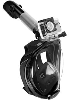 Maschera sub immersioni videocamera