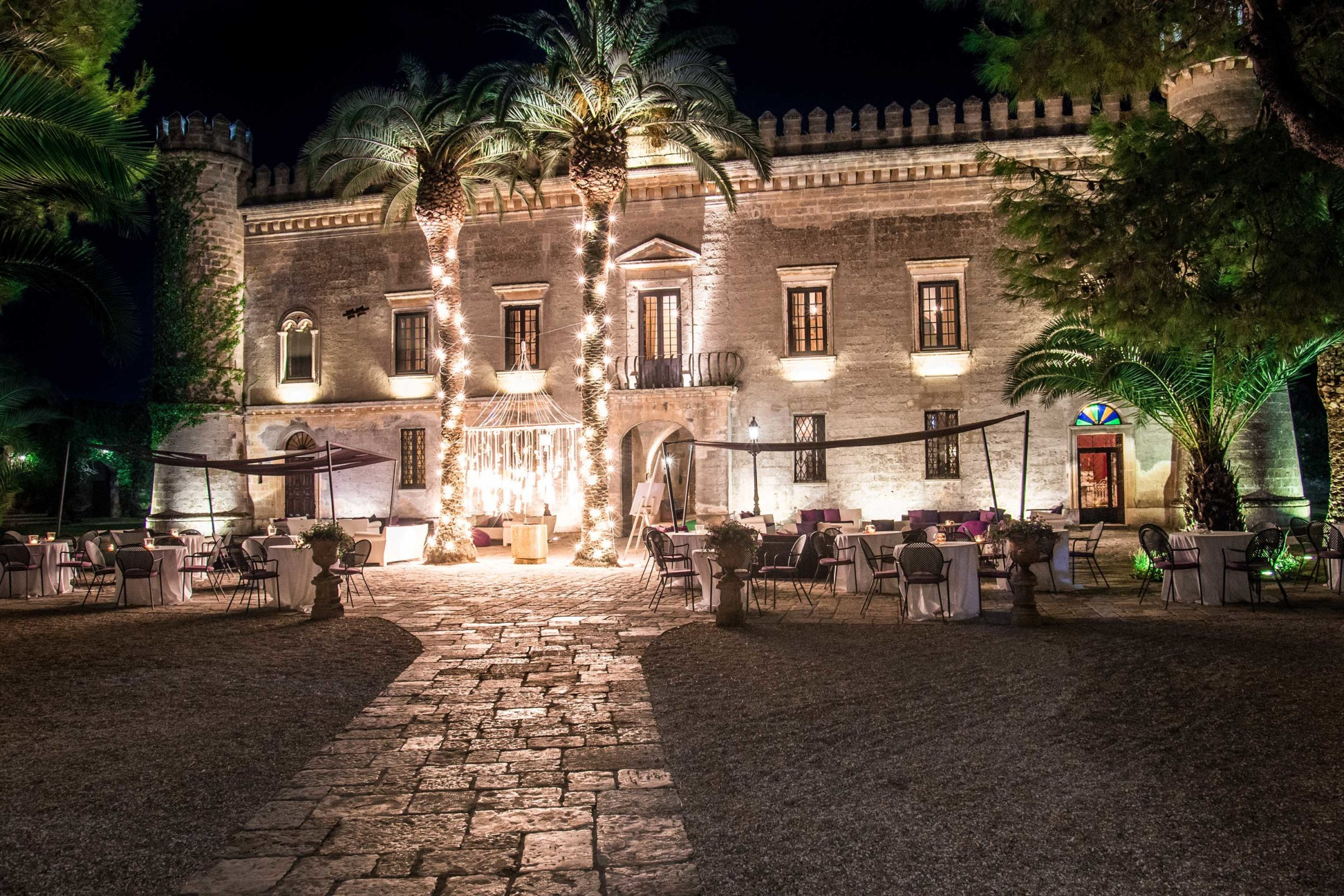 Castello monaci matrimonio wedding puglia lecce castello monaci sera 2400x1600