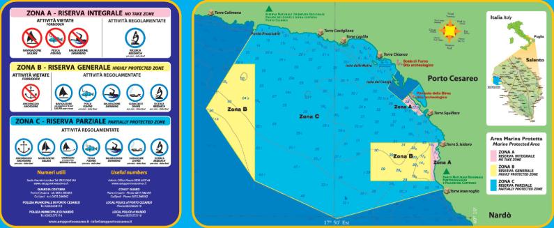 Mappa Area marina protetta Porto Cesareo